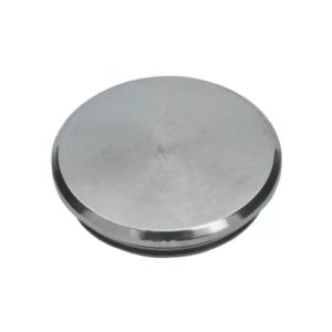 70.01.8210.0 einschlagkappe v2a f.rohre 42,4,2 bis 1,7mm mit 2 starken rillen flach massiv 4