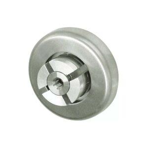 71.01.1050.0 wand endhalter v2a geschliffen, mit rosette ø80mm für metallhandlauf ø42 x 2mm 3