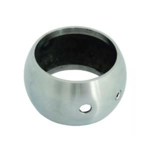 70.01.3570.0 kugelring, v2a edelstahl, für rohr 42,4mm, mit bohrung 6mm und stellschraube, geschliffen 1